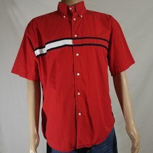 VINTAGE Tommy Hilfiger flag button down shirt